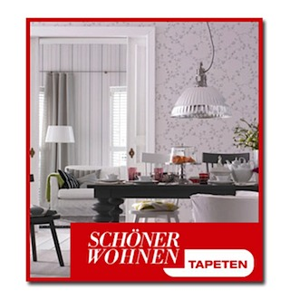 sch ner wohnen tapeten teppichboden tapeten parkett. Black Bedroom Furniture Sets. Home Design Ideas